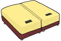 キングサイズやクイーンサイズ、キングサイズのベッド カリフォルニアキングサイズ 大きなベッド  別注 特注