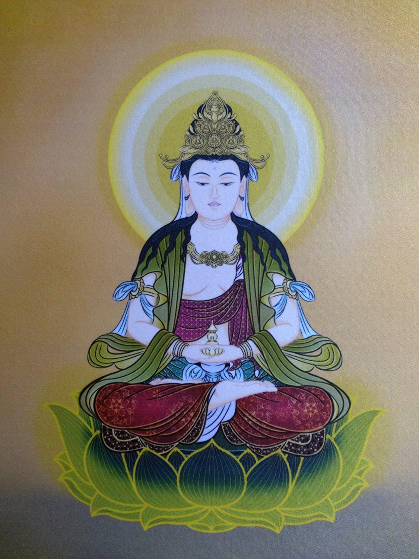 仏画色紙弥勒菩薩