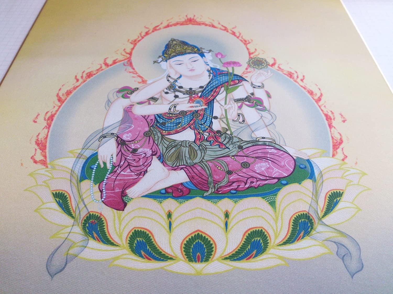仏画色紙如意輪観音