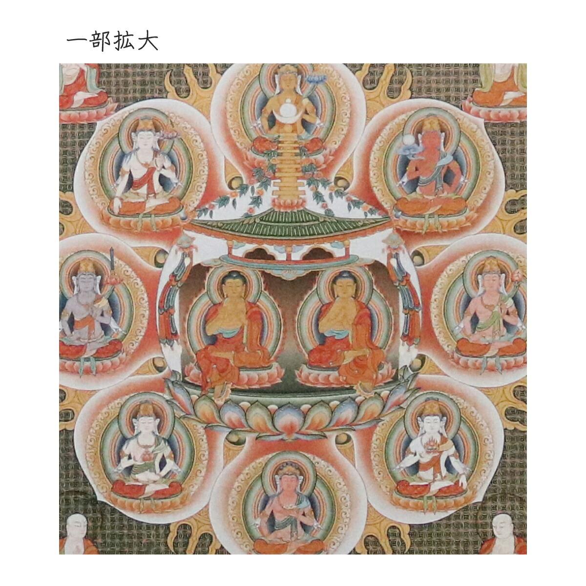 仏画色紙 法華曼荼羅