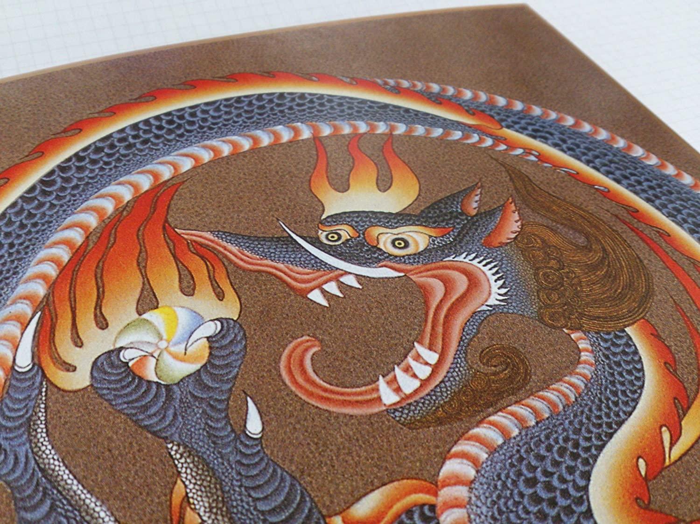 仏画色紙東方神 青龍