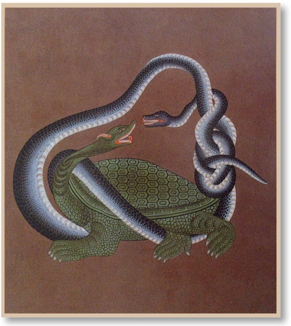 仏画色紙北方神 玄武