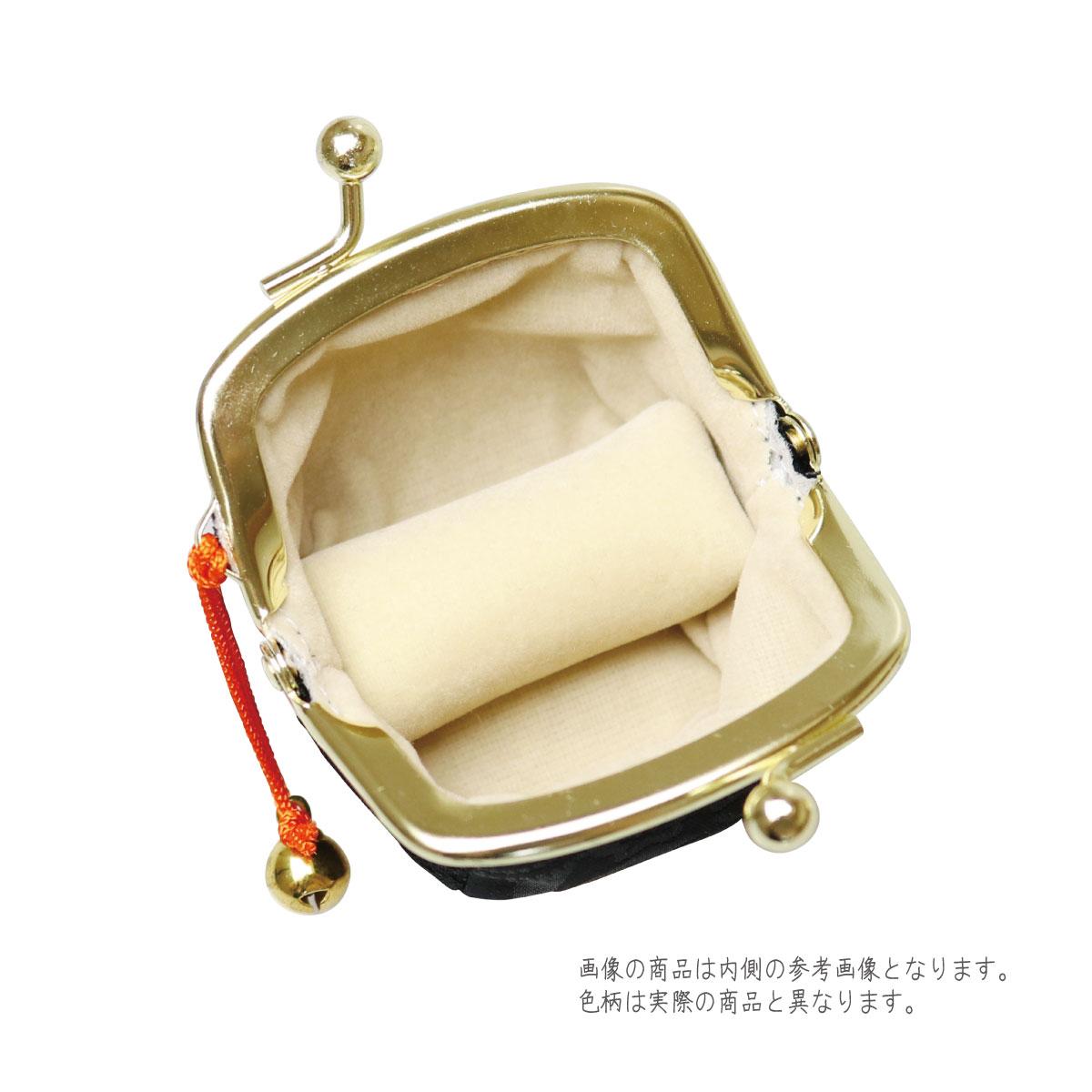 【がま口】指輪差し付・財布/小銭入れ ミニサイズ小鈴付<三色桜>藤