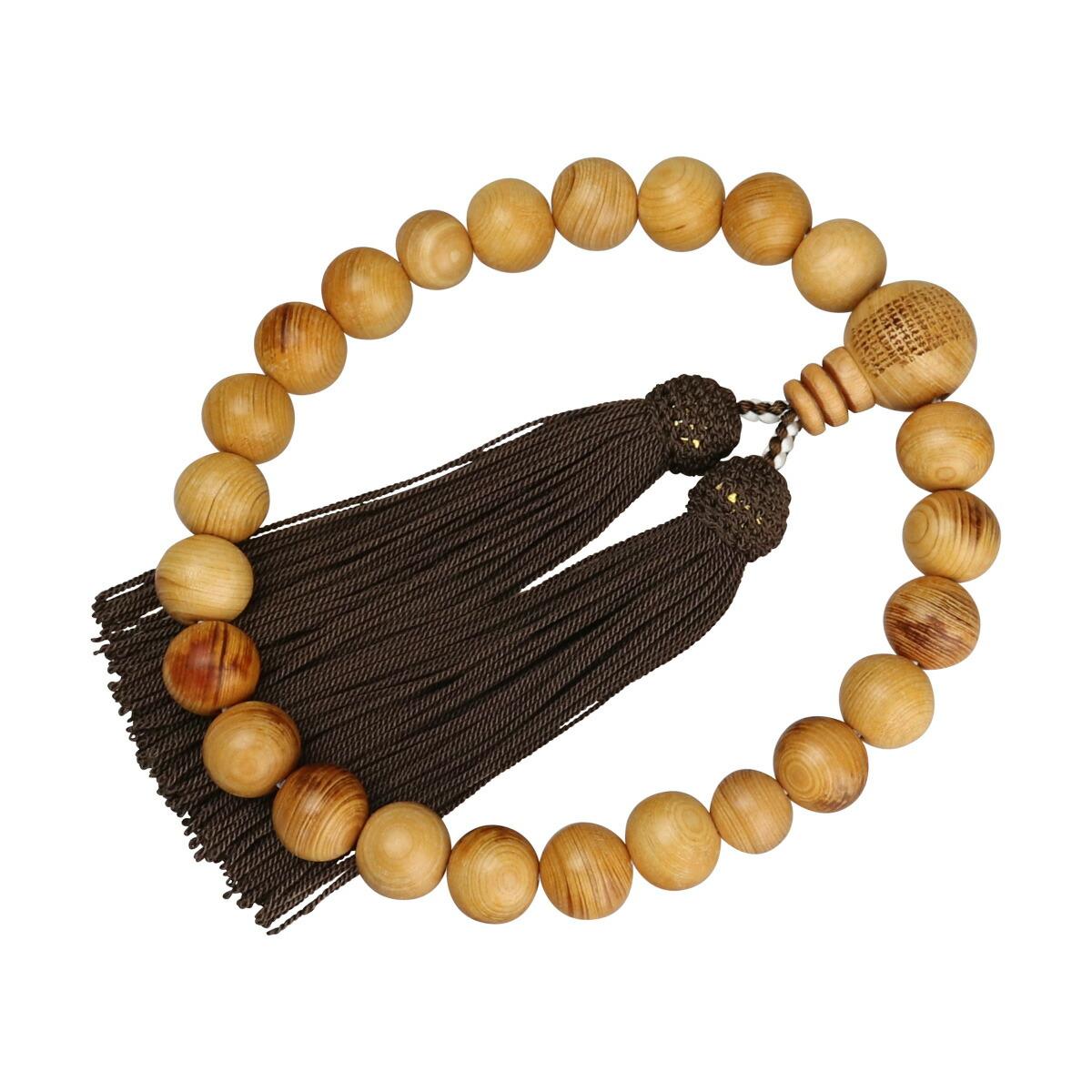 数珠(男性用略式)高野檜 22珠 正絹房