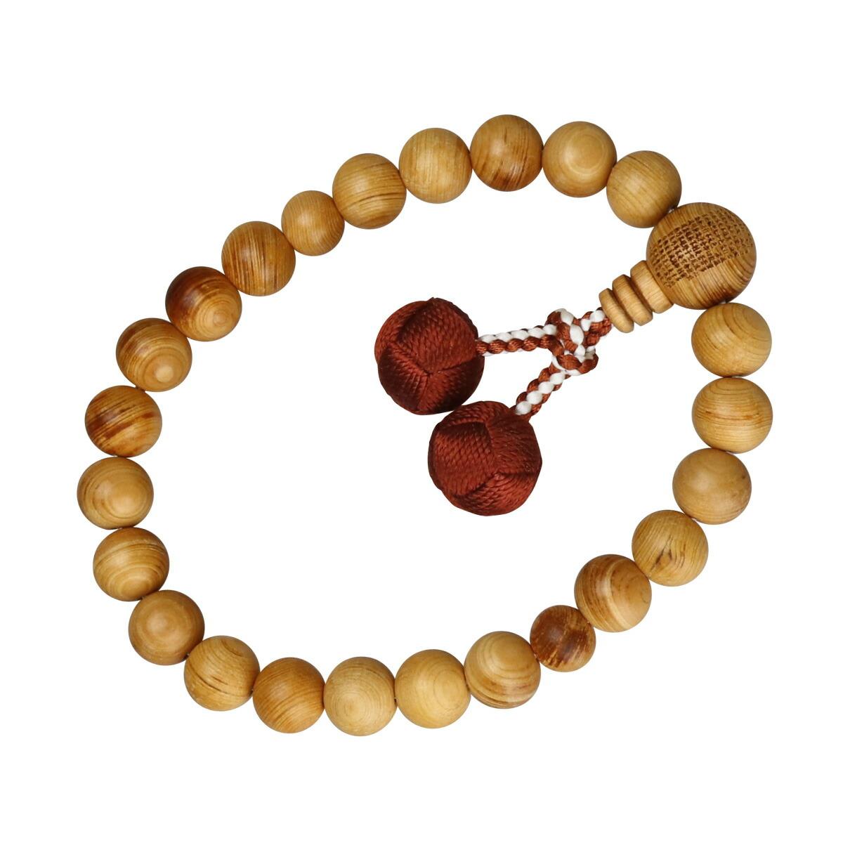 数珠(男性用略式)高野檜22珠 正絹房