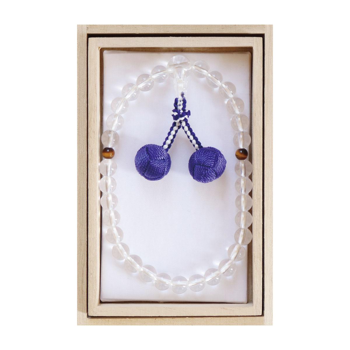 数珠 略式 子供 水晶