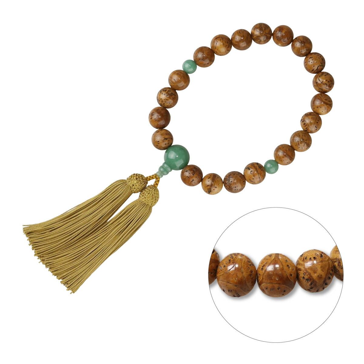数珠 男性用略式 京念数 全宗派対応 龍眼菩提樹 正絹房