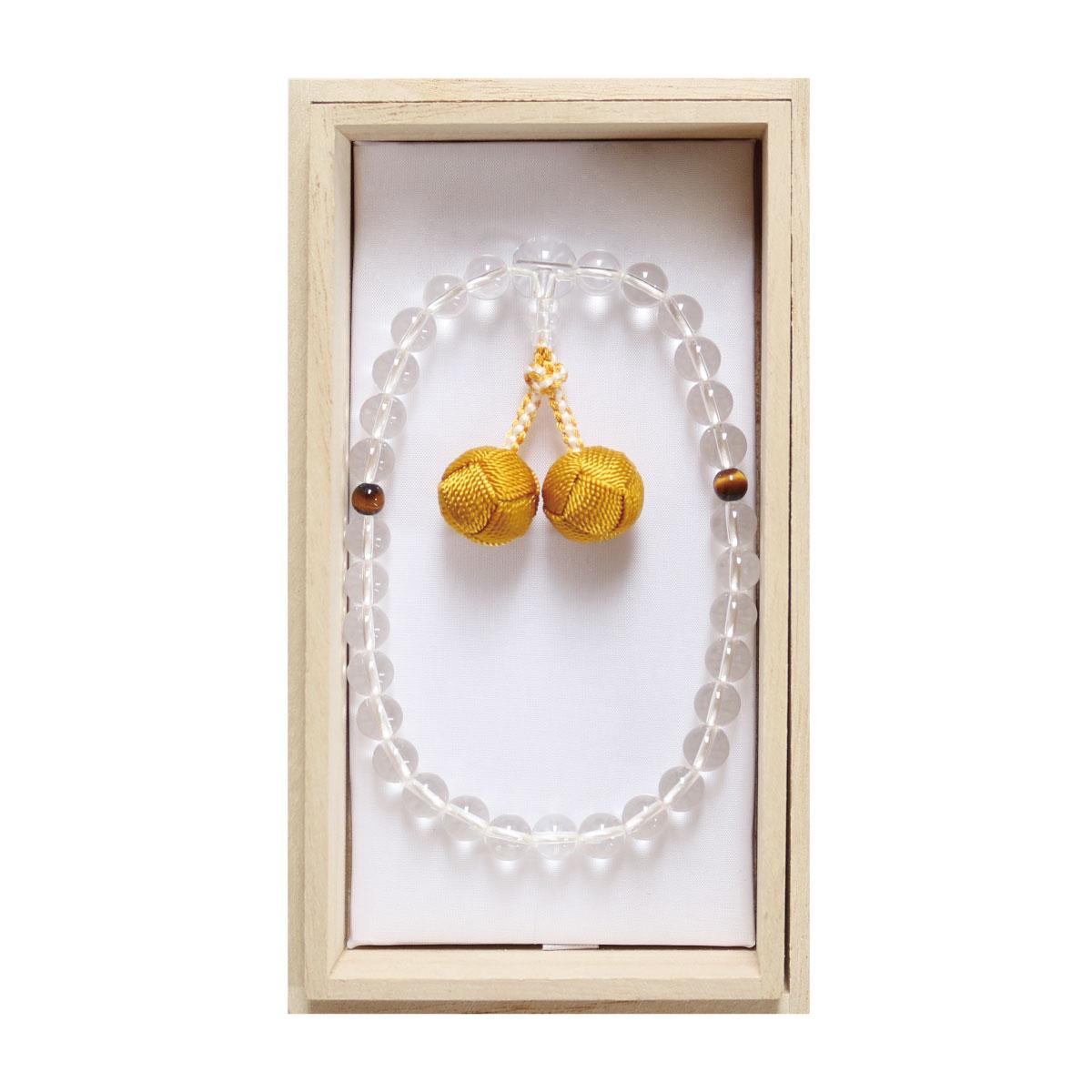 数珠 略式 女性 水晶