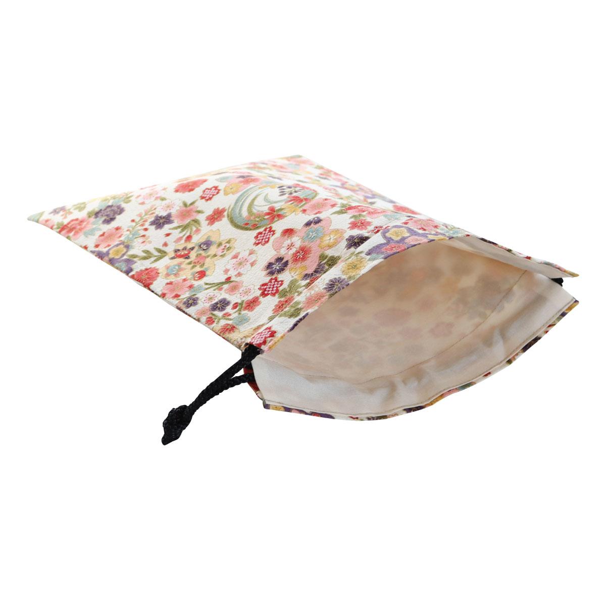【御朱印帳収納袋】四季彩爛漫生成色巾着袋