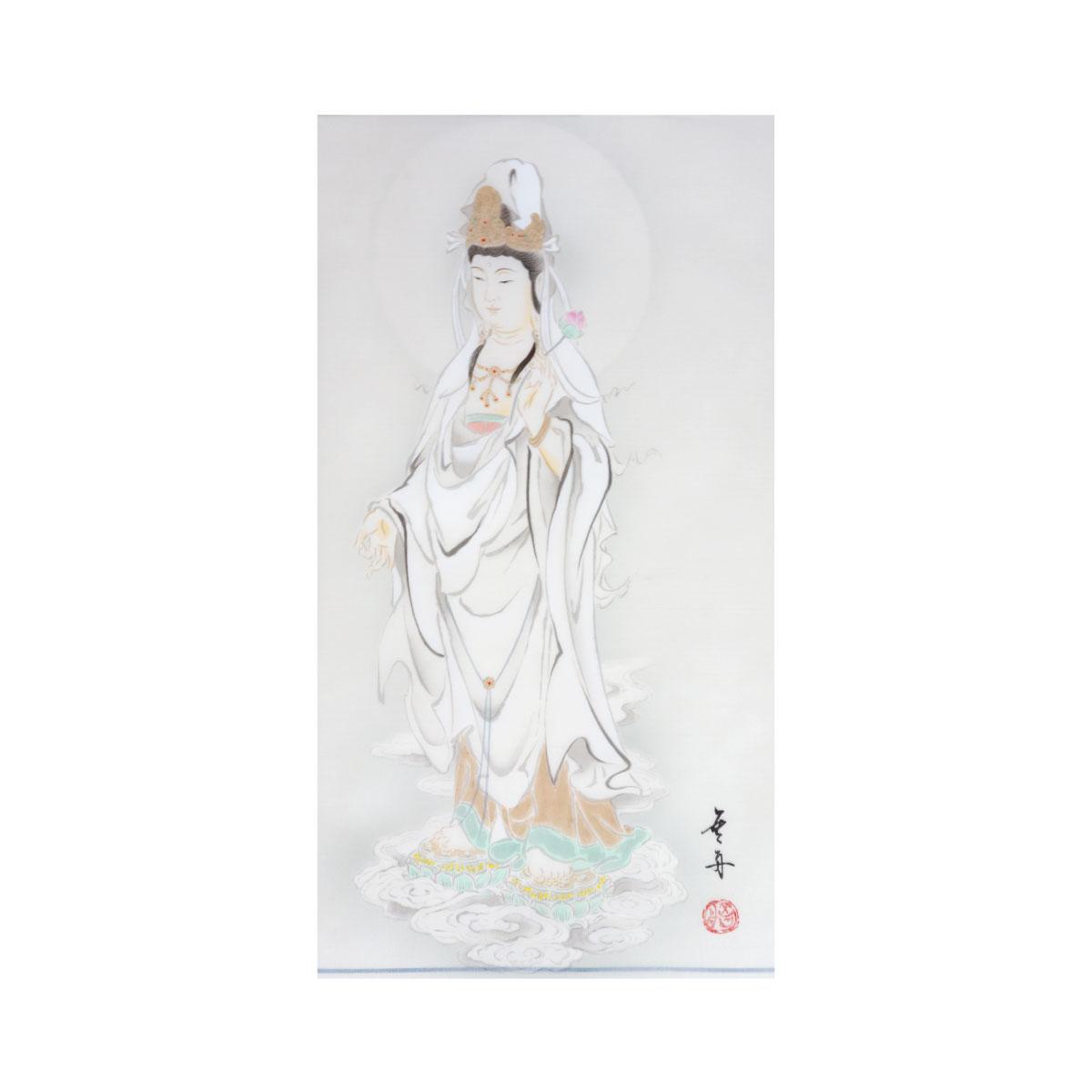 【観音霊場納経軸/横額用】吉祥白衣観音御宝印譜(欄間額用)