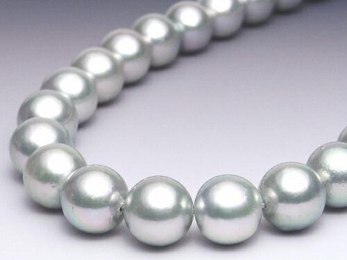 グレーカラーのアコヤ真珠ネックレス