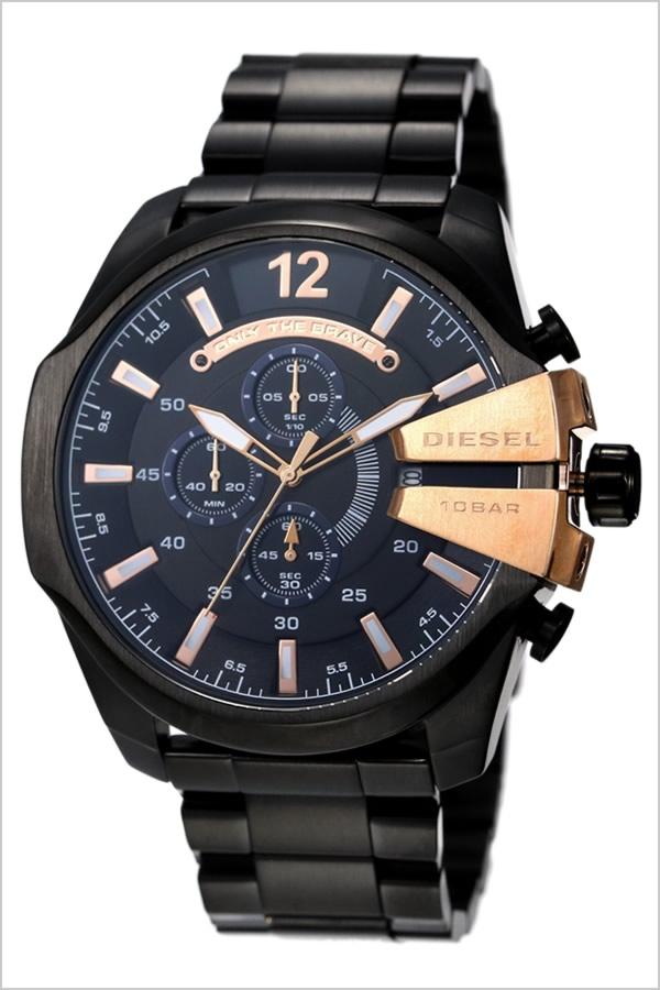 0a290733a0 ... 腕時計 メガチーフ MEGACHIEF メンズ ブラック DZ4309 アナログ クロノグラフ タイムフレームス黒 桃 金 ホワイト  送料無料. ディーゼル[DIESEL]イタリアの老舗 ...