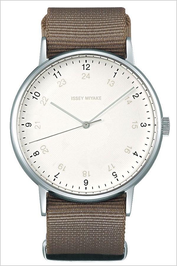 on sale c2bf8 449d7 デザイン 岩崎 イッセイミヤケ腕時計 ホワイト イッセー ...