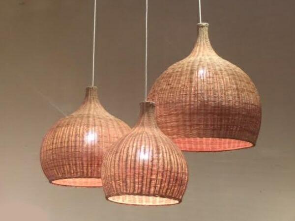 Hug Original Rattan Pendant Lamp M Western Style Light 6 Tatami Business