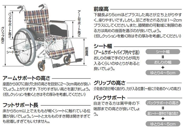 車椅子選びのチェックポイント