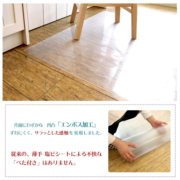 Dining Protection Mat Achilles Clear 180 X 250 Cm Consolidated Type Flooring Scratches Stains Thickness 1 Mm Ultra Thin Transparent Matt Rug Carpet