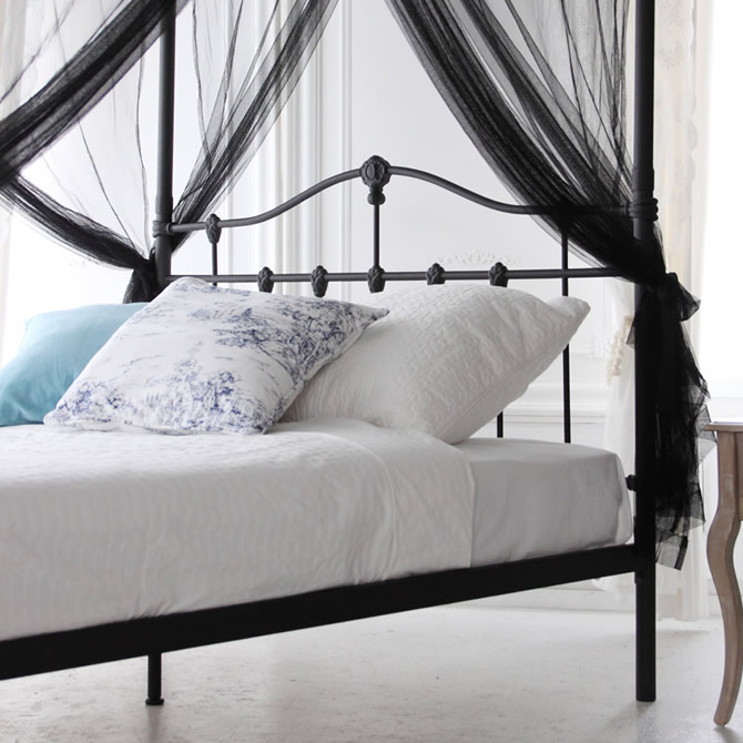 huonest  라쿠텐 일본: 캐노피 철제 침대 싱글 침대 우아한 철제 ...