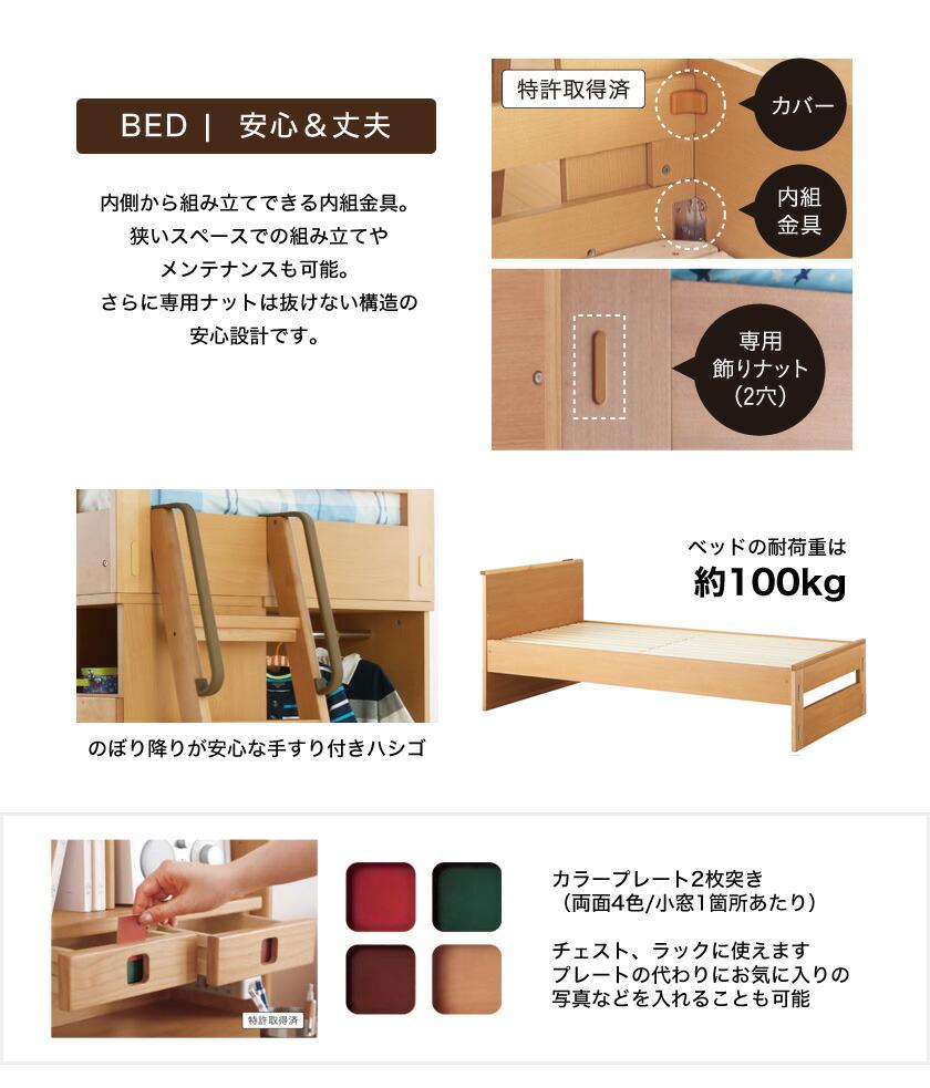コイズミ システムベッド ロフトベッド 子供家具