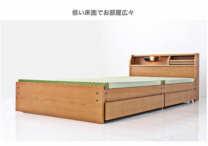 畳・収納ベッド セミダブル ロータイプ メイン画像
