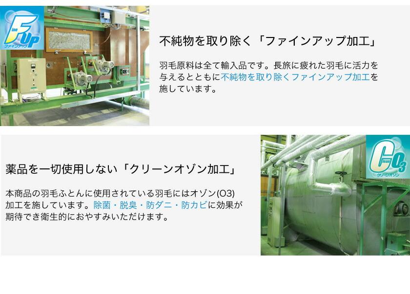 ファインアップ加工 クリーンオゾン加工の説明