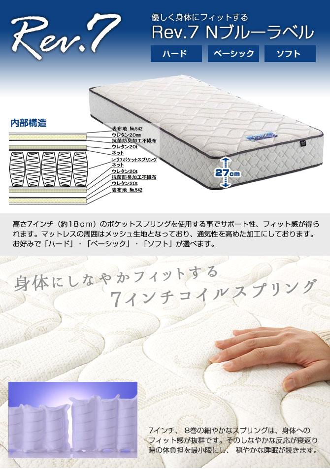 東京ベッド Rev.7 Nブルーラベルマットレス