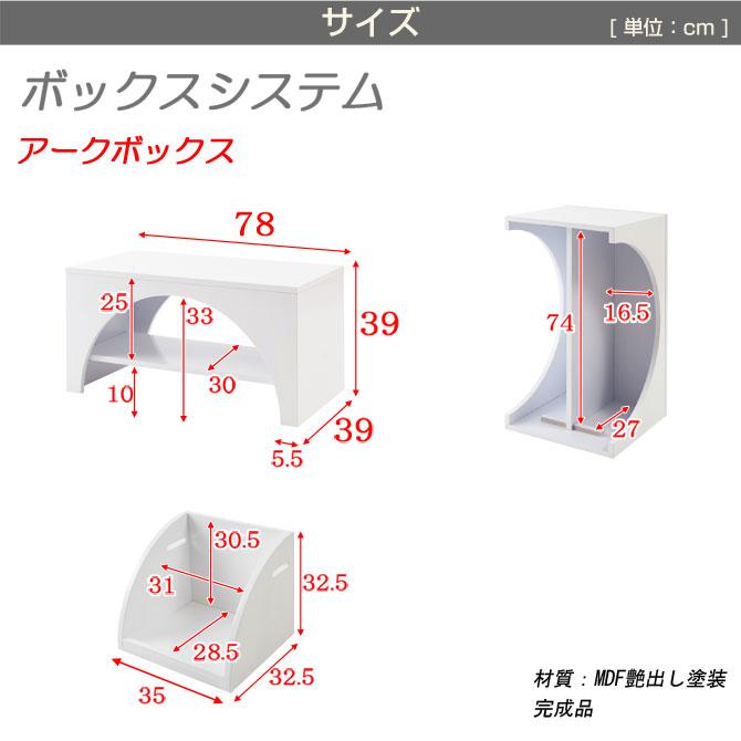 ユニットボックスアークボックスタイプサイズ