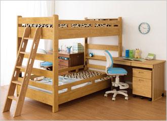 二段ベッドとしても使用可能