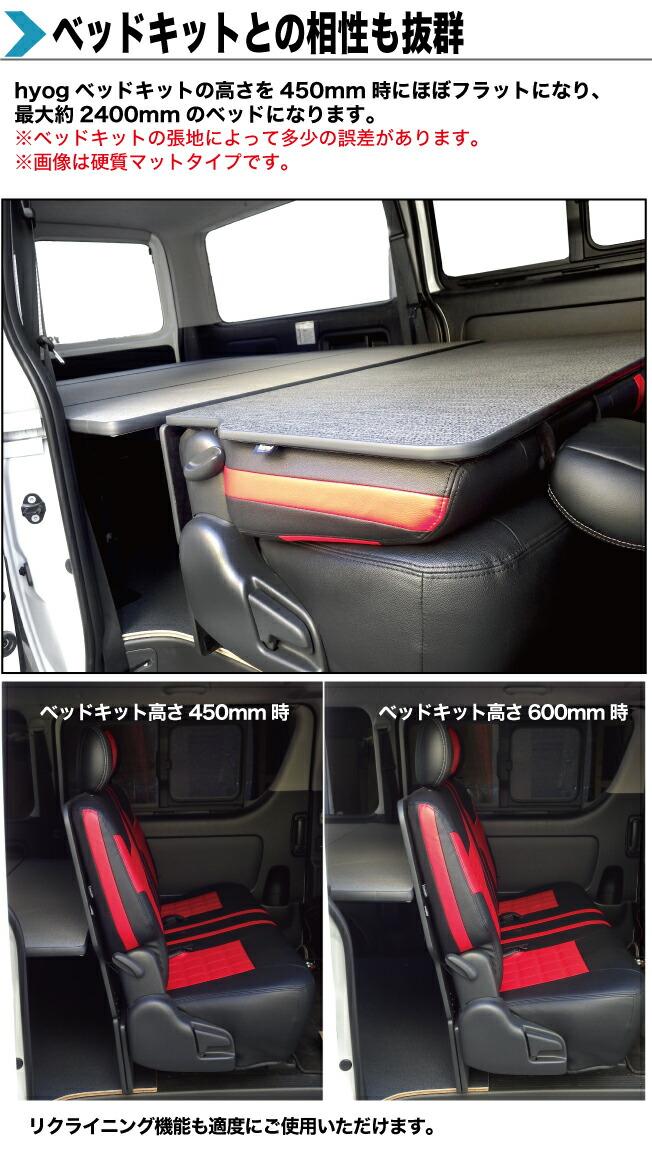 ハイエース200系 ハイエース・レジアスエース200系 S-GL用 セカンドシートバックボード