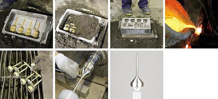 熟練の技が必要な「生型鋳造法」