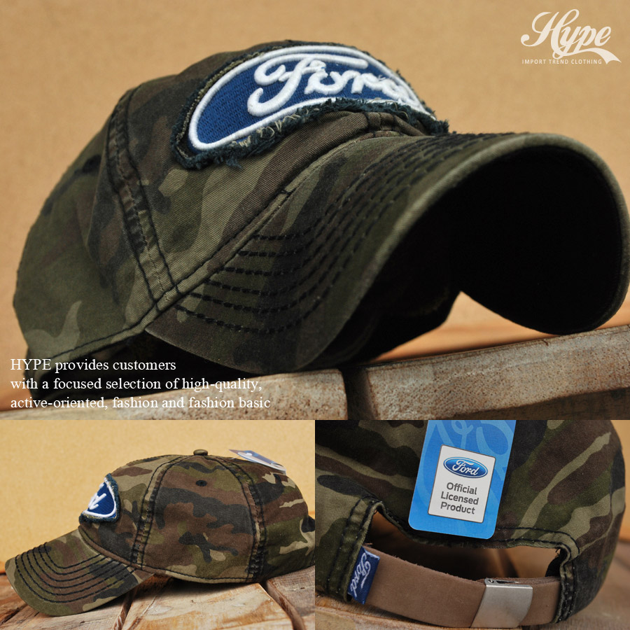 Hype Ford Ford Hat Cap Mens Logo Embroidered Applique