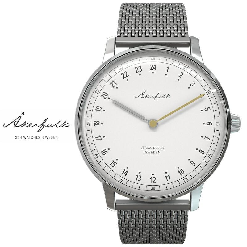 オーカーフォーク 24時間表示 腕時計