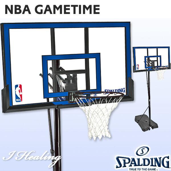 スポルディング ゲームタイム ポリカーボネート 屋外用バスケットゴール バスケットボール SPALDING73655C