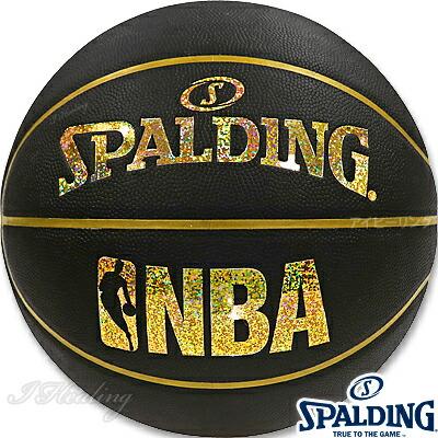 スポルディング バスケットボール7号 キラキラ ホログラム コンポジット ブラックゴールド 合成皮革 SPALDING76-161J