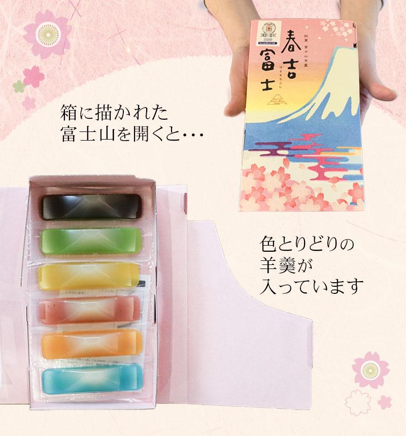 富士山が描かれた箱も素敵な春吉富士