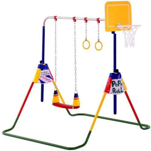 バスケットゴール付鉄棒ブランコ ポップンロール