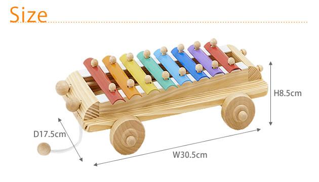 エドインター シロフォンカー  700075 /プルトイ/プルトーイ/木のおもちゃ/引き車/引くおもちゃ/知育玩具/知育おもちゃ/楽器/鉄琴/おもちゃ/