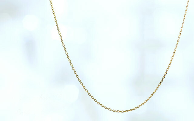 K18 ネックレス Cable chain 40