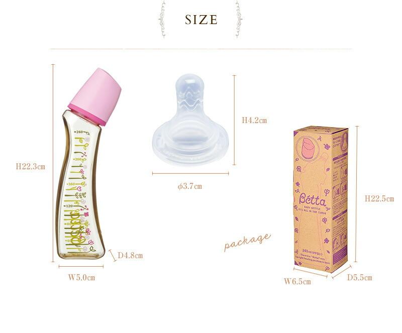 ドクターベッタ 日本製 哺乳瓶(PPSU製)Flower フラワー ブレイン240ml SF4-240ml  哺乳びん 出産祝い ほ乳瓶 ご出産祝い プレゼント