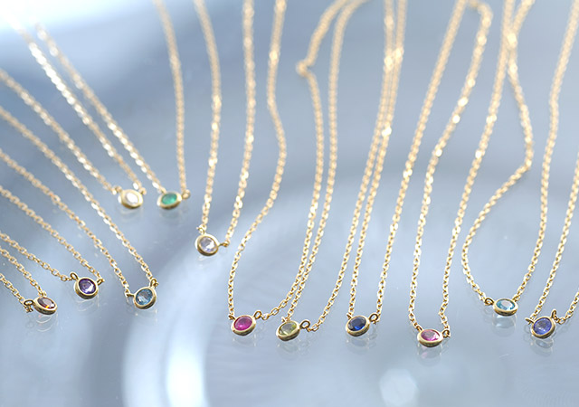 K18 diamond necklace K18 liberty