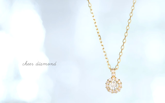 K18 diamond necklace cheer