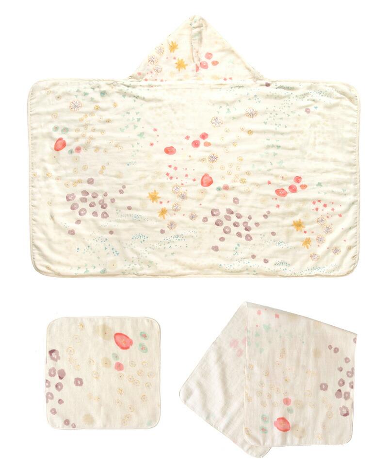 NAOMOI  ITO(ナオミイトウ) わたガーゼ おふろセット  沐浴 湯上りタオル ガーゼ 出産準備 出産祝い 新生児 赤ちゃん