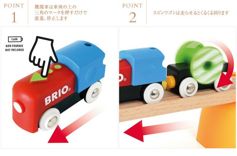 BRIO(ブリオ)  マイファーストバッテリーパワーレールセット  33710  木のおもちゃ 木製玩具 列車 電車 貨車