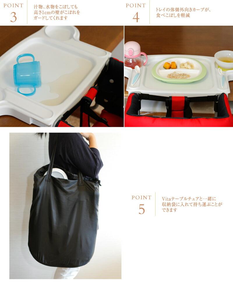 Vita (ヴィータ ) シリコンビブ  ベルニコ ベビーチェア テーブルチェア ベビー 赤ちゃん 子供用 ユーロ式 取り付け トレイ 持ち運び