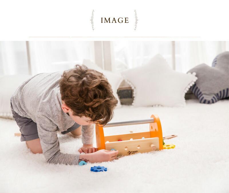 Classic World(クラシックワールド) スモール カーペンターセット  CL3511  大工 おもちゃ 大工さん 知育玩具 2歳 3歳 4歳 木のおもちゃ ごっこ遊び 男の子 お誕生日プレゼント