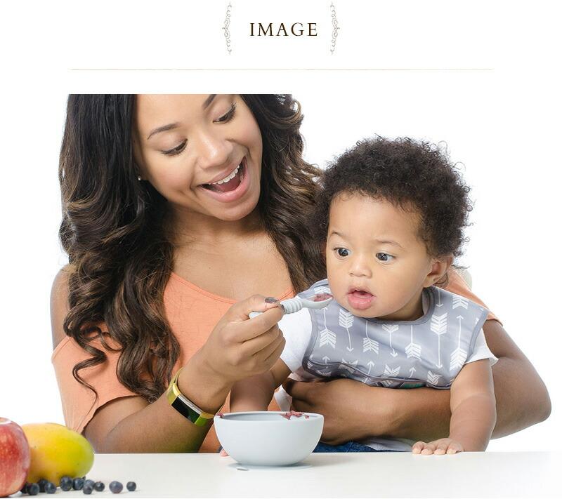 Bumkins(バンキンス) 吸盤付きシリコンボウルセット BM-FF-BLU  ベビー食器 離乳食容器 食事 赤ちゃん フタ付き スプーン ギフト 出産祝い