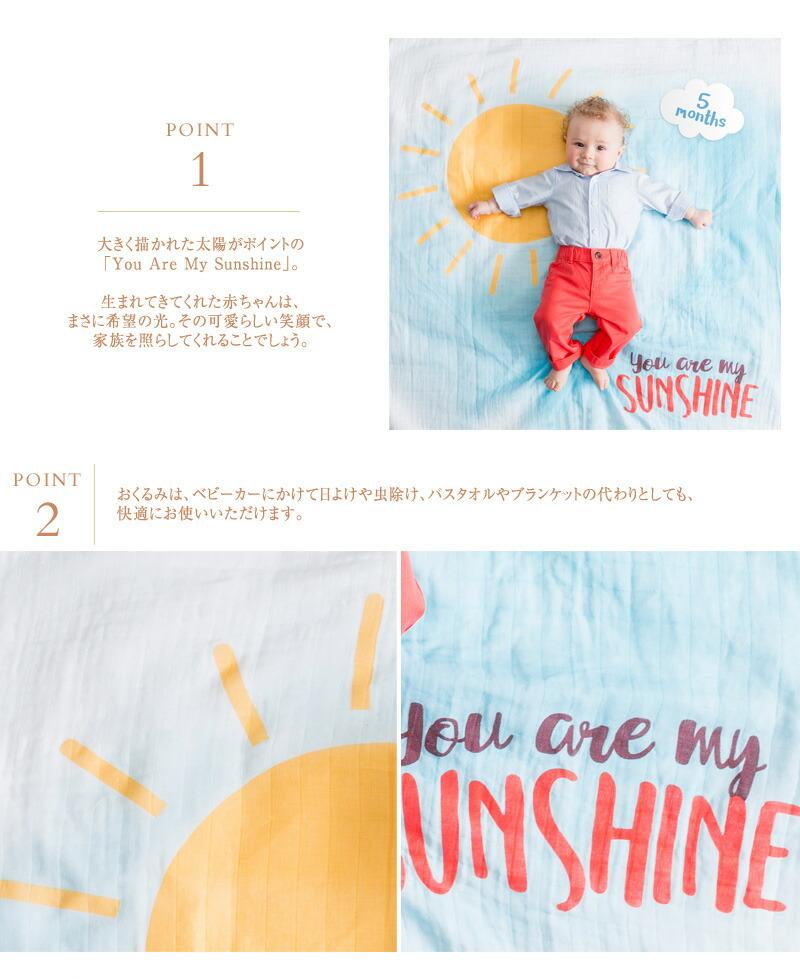 lulujo ルルジョ マイルストーンカードセット You Are My Sunshine