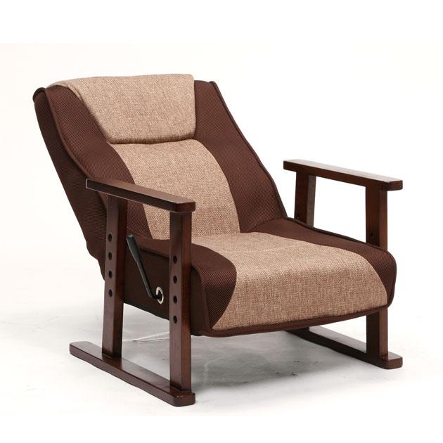 座椅子 座椅子布地 腰痛対策 メッシュ生地のレバー式リクラニ…