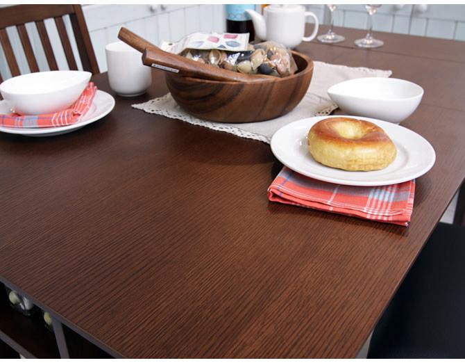 90cmと120cm 2パターンテーブル幅 テーブル天板はフラットにキレイ オーク突板天板