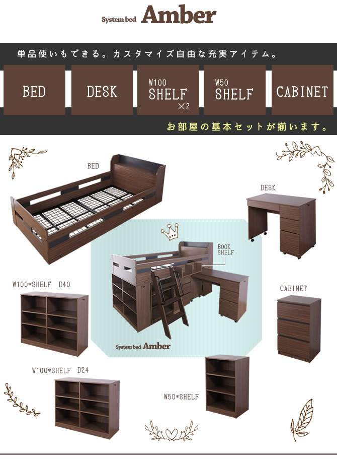 お部屋の家具の基本アイテムが揃う