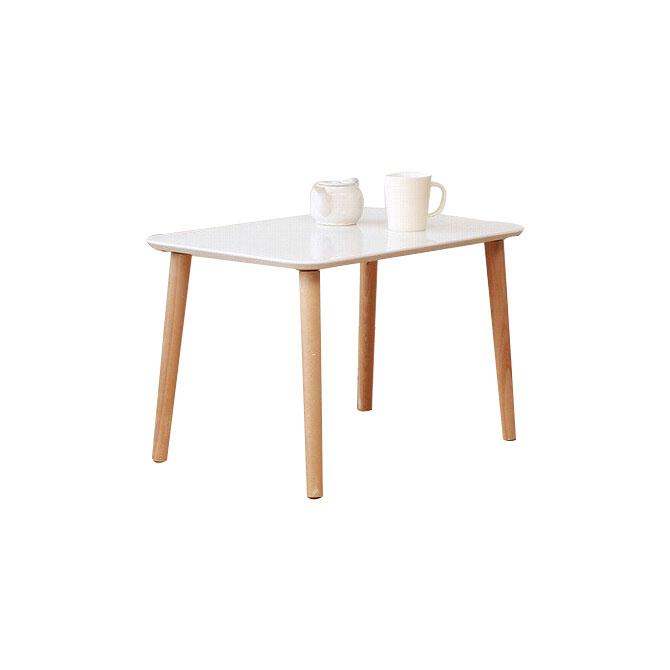 木目鏡面トールテーブル(60) ホワイト ナチュラル ブラウ…